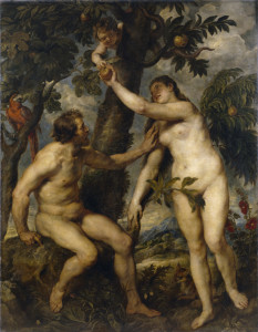 Adam and Eve, from whom Christians believe the entirety of the human race is descended.