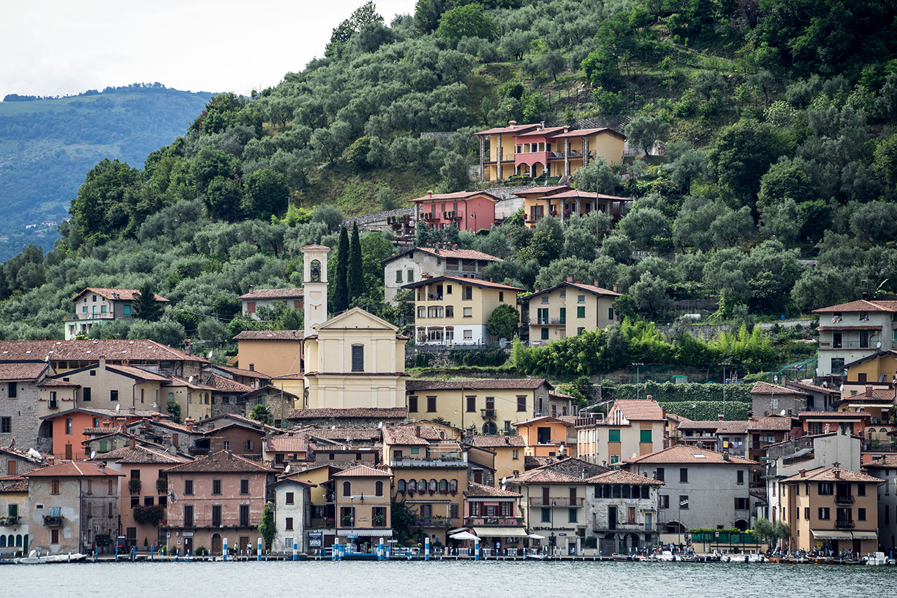 The town of Peschiera Maraglio on the island of Monte Isola.Photo byWolfgang Volz.