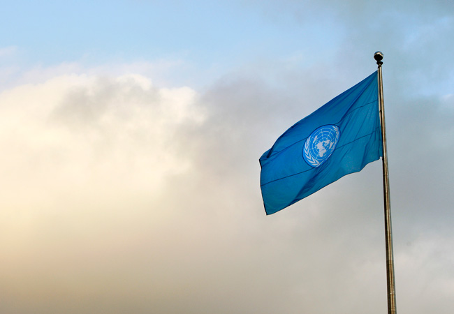 Flag of the United Nations (Credit: UN Photo/Mark Garten)