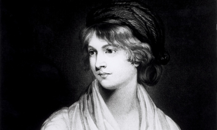 A portrait of Mary Wollstonecraft.