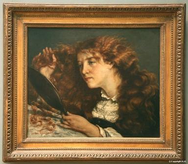 "Gustave Courbet, ""Jo, La Belle Irlandaise"" (Image via Insecula.com)"